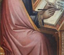 Evangelista in atto di scrivere