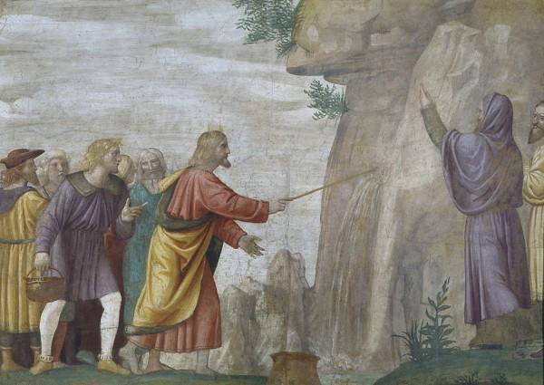 Mosè fa scaturire l'acqua dalla rupe