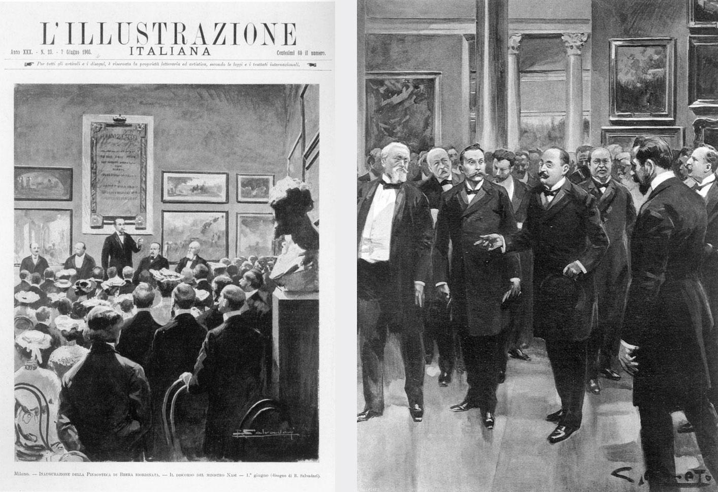 Il Ministro Nasi visita la Pinacoteca riordinata. 7 giugno 1903