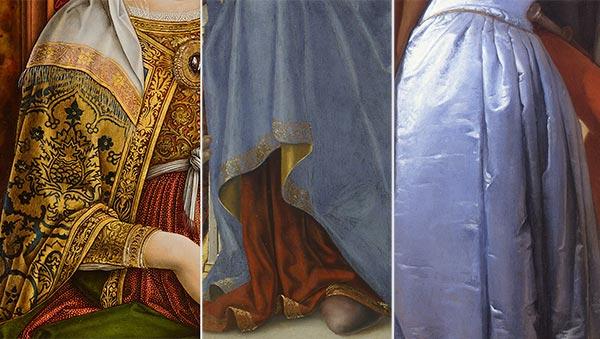 Il tessuto e l'abito nelle opere di Brera