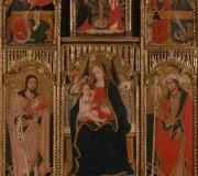Madonna con il Bambino e angeli fra San Giovanni Battista e San Giacomo e Crocifissione fra gli Evangelisti