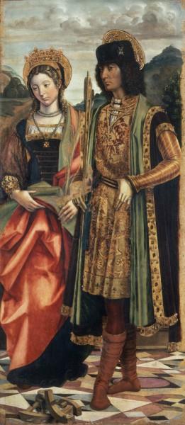 I santi Caterina d'Alessandria e Sebastiano