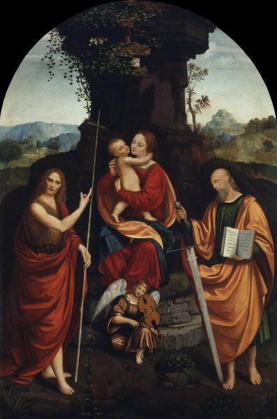 Madonna con il Bambino, i Santi Giovanni Battista Paolo e un angelo musico