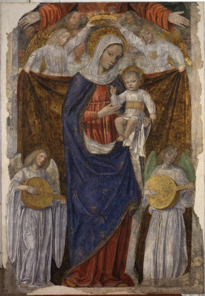 Madonna col Bambino, l'Eterno e angeli