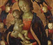 Madonna col Bambino in una mandorla di cherubini