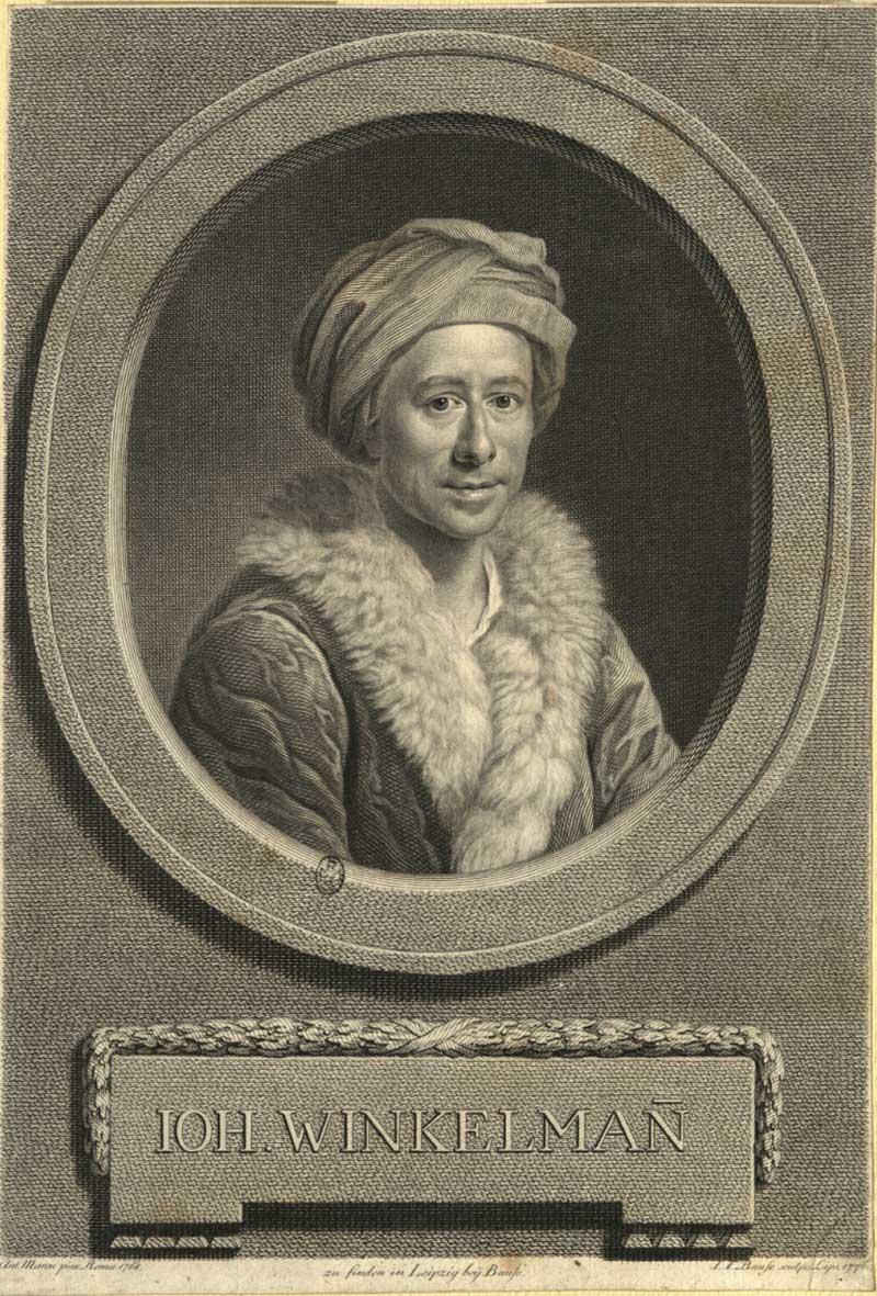 Johann Joachim Winckelmann (Stendhal 9 dicembre 1717 - Trieste 8 giugno 1768)