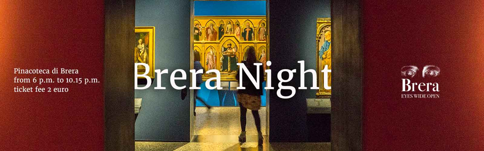 Brera Night with 2 euro