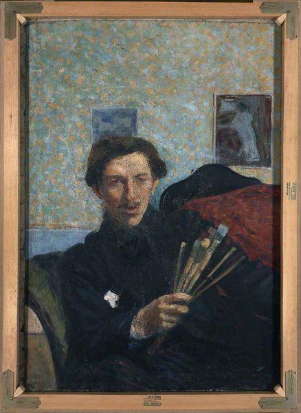 Il retro della tela con l'Autoritratto 1906, totale