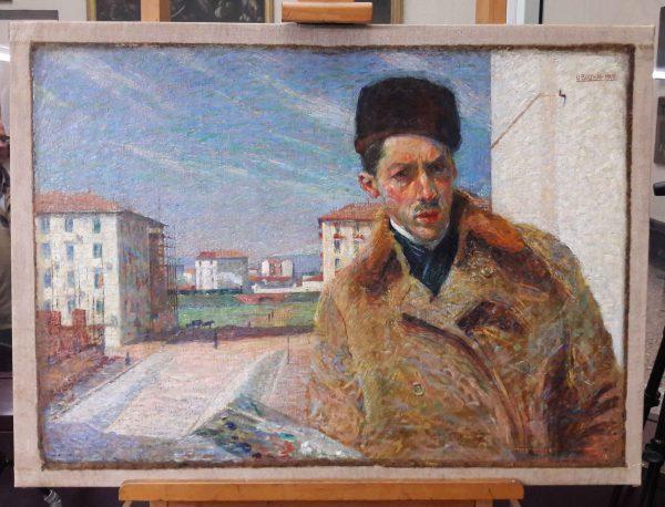 Autoritratto 1908, totale recto, dopo il restauro