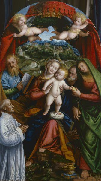 Madonna con Bambino e i santi Marta, Giacomo, Giuseppe e offerente