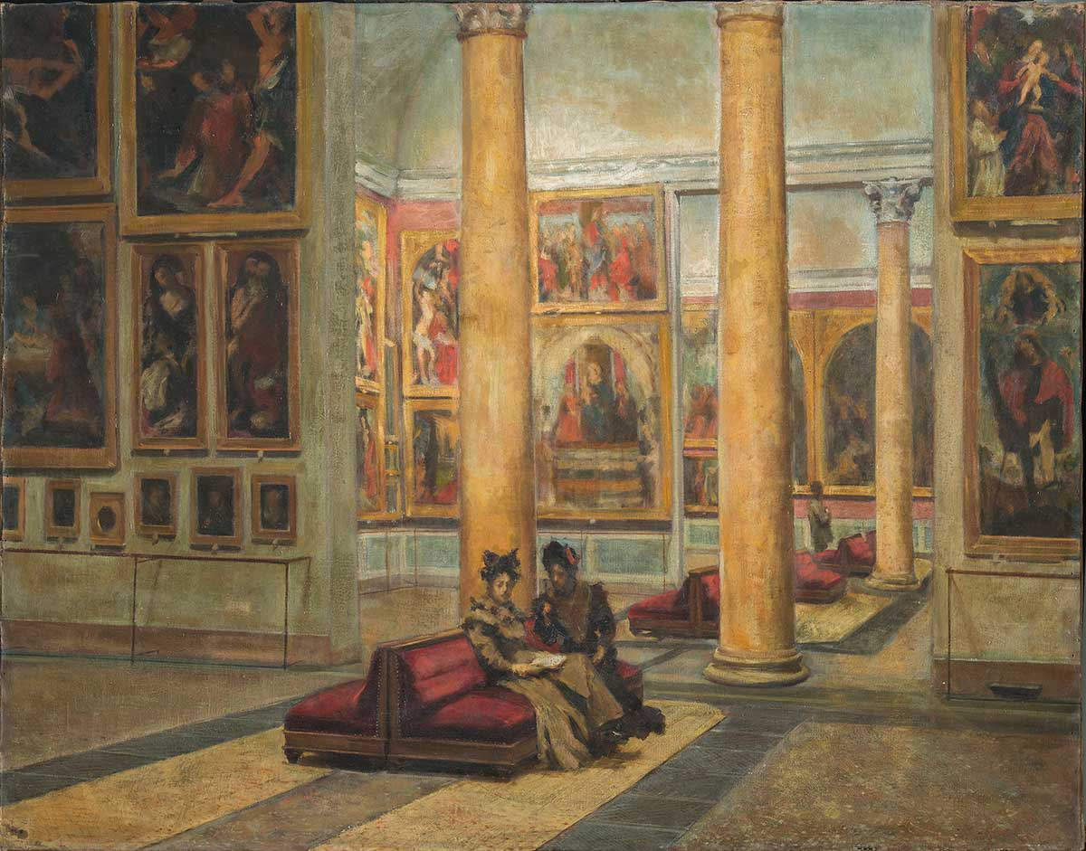 Il dipinto fotografato dopo il restauro del 1974 (fig.4)