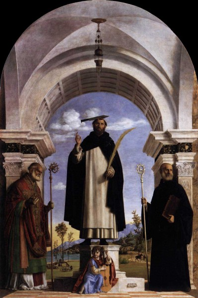 Saint Peter Martyr with Saints Nicholas and Benedict