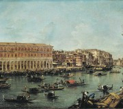 View of the Grand Canal with the New Buildings at Rialto
