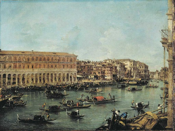 View of the Grand Canal with the Fabbriche Nuove di Rialto