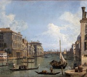 View of the Grand Canal towards the Punta della Dogana from Campo San Vio