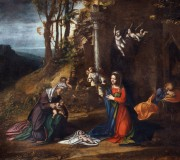 Nativity of Jesus with St. Elisabeth and the Young St. John the Baptist