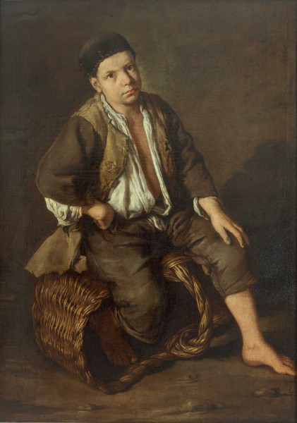 Errand Boy Seated on a Basket