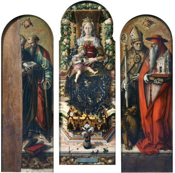 Madonna and Child with St. Peter and St. Paul, St. Ansovinus and St. Jerome (Madonna of the Candle)