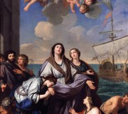 St. Paula of Rome Departs for the Holy Land