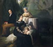 Ritratto della famiglia Borri Stampa