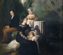 Ritratto di gruppo della famiglia Borri Stampa