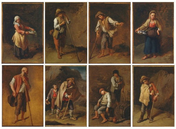 Eight Figures Studies of Peasants and Shepherds