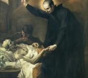 San Gaetano conforta un moribondo