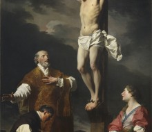 Christ Crucified with St. Eusebius, St Philip Neri and St. Mary Magdalen