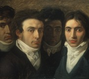 Self-Portrait with Gaetano Cattaneo, Carlo Porta and Giuseppe Taverna (Cameretta Portiana)