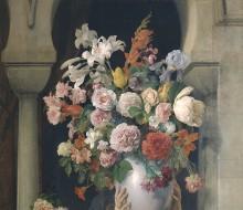 Un vaso di fiori sulla finestra di un harem