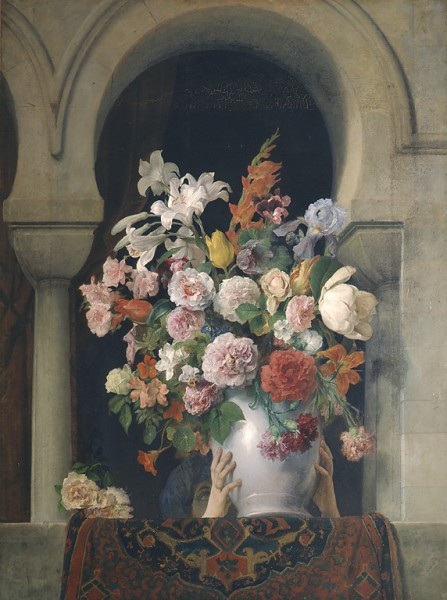 Vase of Flowers on the Window of a Harem