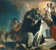 La Madonna del Carmelo fra i Santi Simone Stock, Teresa d'Avila, Alberto di Vercelli, il profeta Elia e le anime del Purgatorio