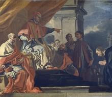 San Villibaldo chiede la benedizione di papa Gregorio III prima di recarsi ad evangelizzare i Sassoni