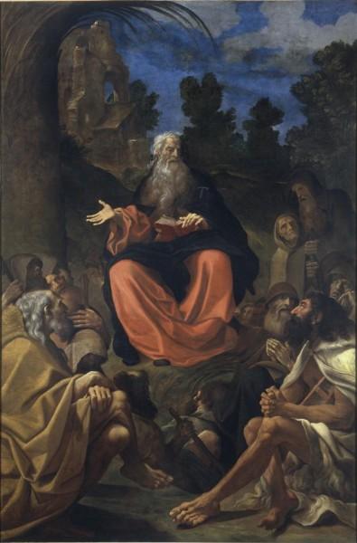La predica di Sant'Antonio Abate agli eremiti