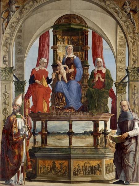 La Vergine in trono con il Bambino, i Santi Anna, Elisabetta, Agostino e il beato Pietro degli Onesti