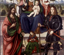 Madonna and Child Enthroned with Saints John the Baptist and Florian