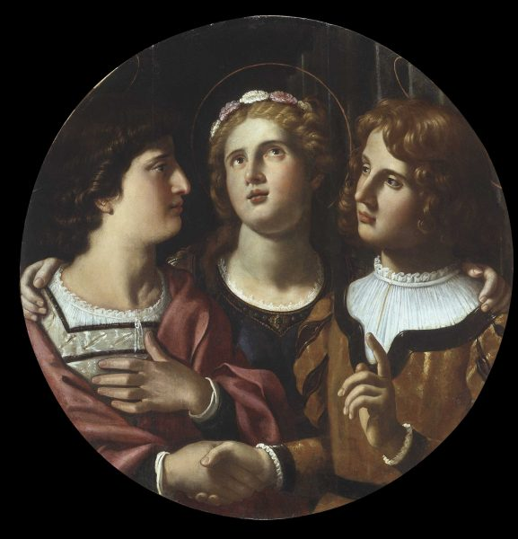 St. Cecilia between St. Tiburtius and Valerianus