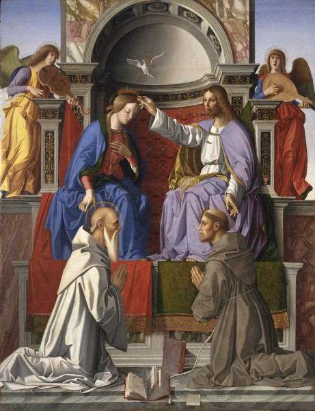 Coronation of the Virgin  with Saints Francis and the Benedict