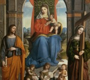 Madonna and Child with Saints James of Galicia and Helen