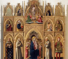 Madonna Enthroned with the Christ Child, Angels and Saints (Cagli Polyptych)