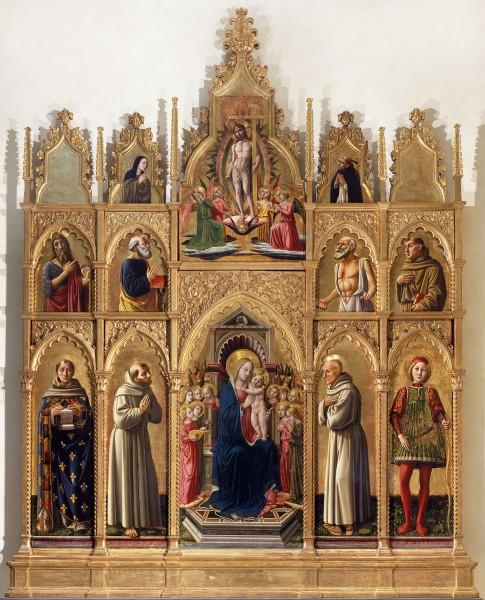Madonna in trono col Bambino, angeli e santi (Polittico di Cagli)