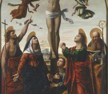 Crocifissione con la Vergine e i santi Giovanni Battista, Maddalena, Giovanni Evangelista e Agostino