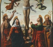 Crucifixion with the Virgin and Saints John the Baptist, Mary Magdalene, John  the Evangelist and Augustine
