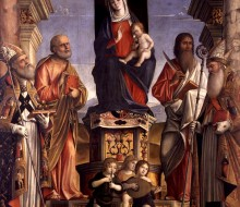Madonna and Child Enthroned with Saints Nicholas, Peter, Bartholomew and Augustine