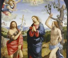 La Vergine annunciata e i Santi Giovanni Battista e Sebastiano