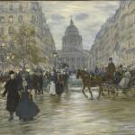 Jean François Raffaëlli, Boulevard Saint Michel, 1890