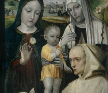 Madonna con il Bambino, Santa Caterina da Siena e un monaco certosino