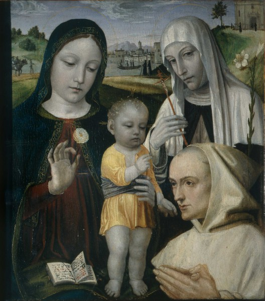 Madonna and Child, St. Catherine of Siena and a Carthusian Monk