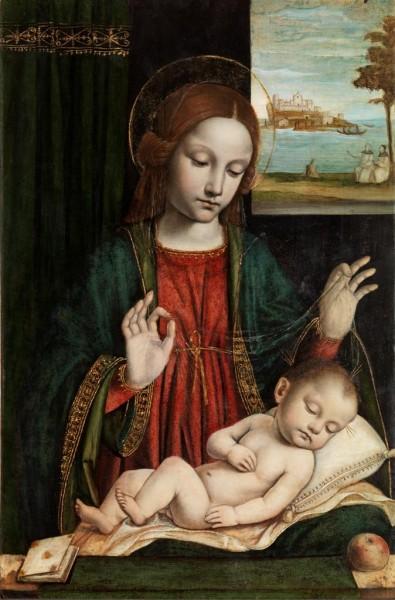 Madonna con il Bambino dormiente (Madonna del velo)