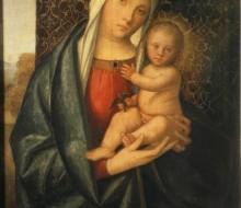 Madonna col Bambino che gioca con un uccellino